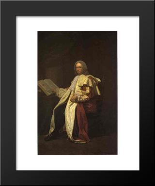 Portrait Of Archibald Campbell, 3Rd Duke Of Argyll:  Modern Black Framed Art Print by Allan Ramsay
