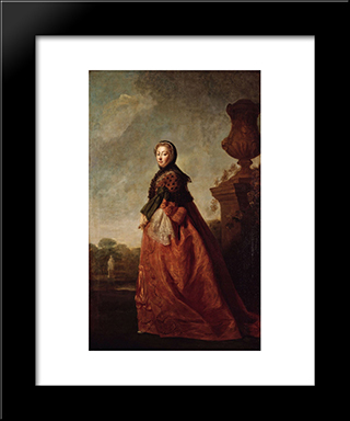 Portrait Of Augusta Of Saxe Gotha, Princess Of Wales:  Modern Black Framed Art Print by Allan Ramsay