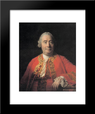 Portrait Of David Hume:  Modern Black Framed Art Print by Allan Ramsay