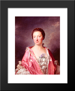 Portrait Of Elizabeth Gunning, Duchess Of Argyll:  Modern Black Framed Art Print by Allan Ramsay