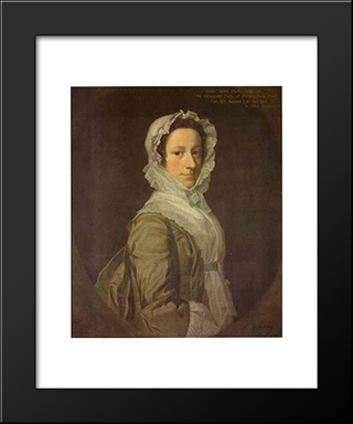 Portrait Of Janet Dick:  Modern Black Framed Art Print by Allan Ramsay