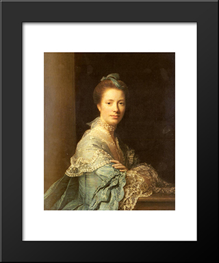 Portrait Of Jean Abercromby, Mrs Morison:  Modern Black Framed Art Print by Allan Ramsay