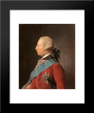 Portrait Of King George Iii:  Modern Black Framed Art Print by Allan Ramsay