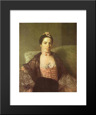 Portrait Of Martha, Countess Of Elgin:  Modern Black Framed Art Print by Allan Ramsay