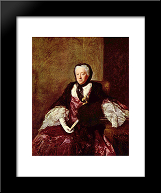 Portrait Of Mary Atkins (Mrs. Martin):  Modern Black Framed Art Print by Allan Ramsay