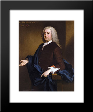 Portrait Of Sir John Hynde Cotton, 3Rd Bt:  Modern Black Framed Art Print by Allan Ramsay