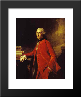 Portrait Of William Colyear, Viscount Milsington:  Modern Black Framed Art Print by Allan Ramsay