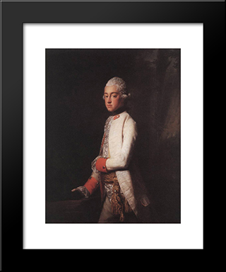 Prince George Augustus Of Mecklenburg Strelitz:  Modern Black Framed Art Print by Allan Ramsay