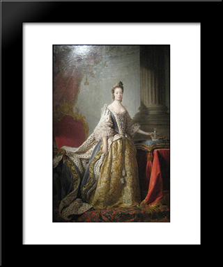 Queen Charlotte:  Modern Black Framed Art Print by Allan Ramsay