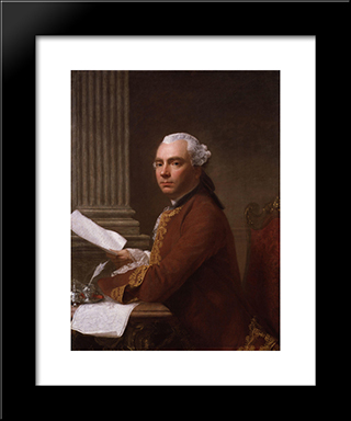 Robert Wood:  Modern Black Framed Art Print by Allan Ramsay