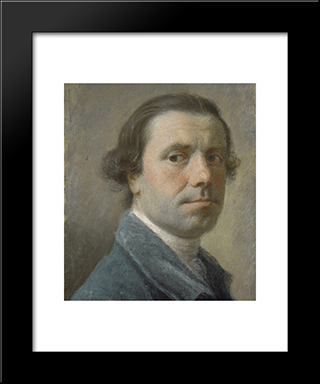 Self-Portrait:  Modern Black Framed Art Print by Allan Ramsay