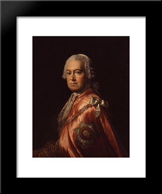 Sir Andrew Mitchell:  Modern Black Framed Art Print by Allan Ramsay