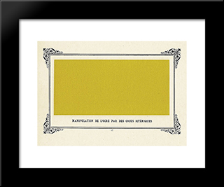Jaundiced Cuckolds Handling Ochre:  Modern Black Framed Art Print by Alphonse Allais