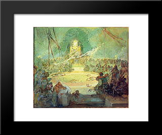 Age Of Love:  Modern Black Framed Art Print by Alphonse Mucha