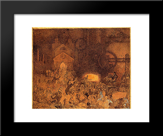 Age Of Reason:  Modern Black Framed Art Print by Alphonse Mucha