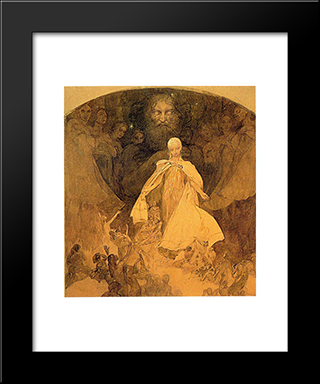Age Of Wisdom:  Modern Black Framed Art Print by Alphonse Mucha