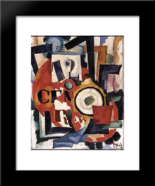 Interior Expression Of Things 1915:  Modern Black Framed Art Print by Amadeo de Souza Cardoso