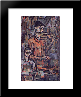 Life Of Instruments 1916:  Modern Black Framed Art Print by Amadeo de Souza Cardoso