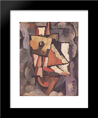 Painting:  Modern Black Framed Art Print by Amadeo de Souza Cardoso