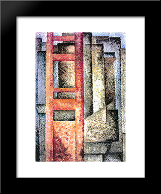 Painting (Deployment-Intersection):  Modern Black Framed Art Print by Amadeo de Souza Cardoso
