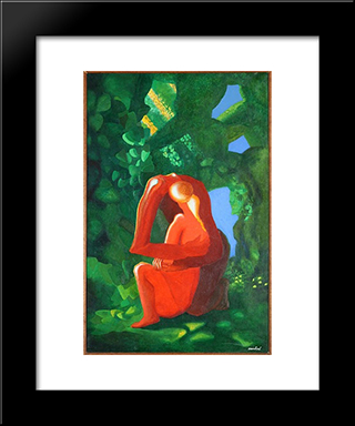 Adam Et Eve:  Modern Black Framed Art Print by Amedee Ozenfant