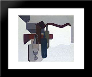Composition Ii:  Modern Black Framed Art Print by Amedee Ozenfant