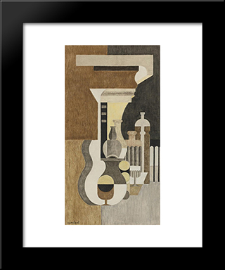 Composition Puriste:  Modern Black Framed Art Print by Amedee Ozenfant