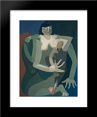 Maternity:  Modern Black Framed Art Print by Amedee Ozenfant