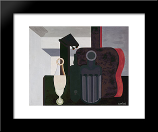 Still Life:  Modern Black Framed Art Print by Amedee Ozenfant