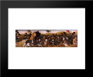 The Battle Of Pydna:  Modern Black Framed Art Print by Andrea del Verrocchio