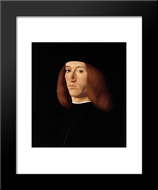 Portrait Of A Young Man:  Modern Black Framed Art Print by Andrea Solario