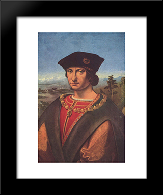 Portrait Of Charles D'Amboise:  Modern Black Framed Art Print by Andrea Solario