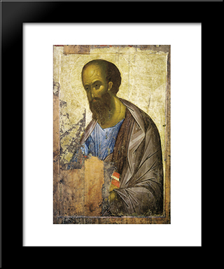 Apostle Paul:  Modern Black Framed Art Print by Andrei Rublev