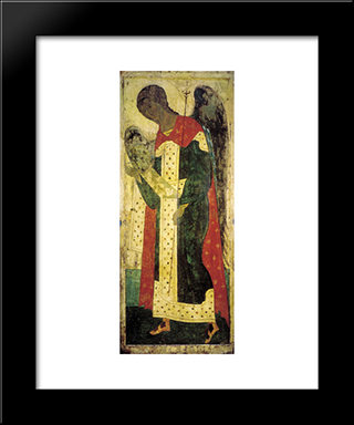 Archangel Gabriel:  Modern Black Framed Art Print by Andrei Rublev