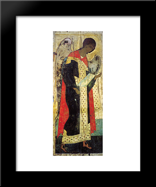 Archangel Michael:  Modern Black Framed Art Print by Andrei Rublev