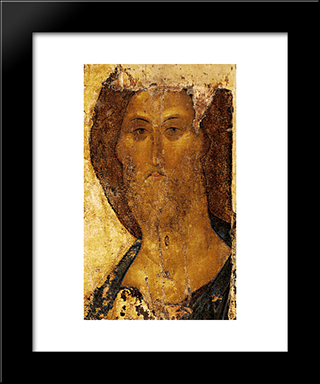 Christ As Saviour:  Modern Black Framed Art Print by Andrei Rublev