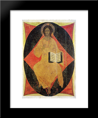 Christ In Majesty:  Modern Black Framed Art Print by Andrei Rublev