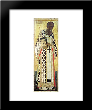 Gregory The Theologian:  Modern Black Framed Art Print by Andrei Rublev