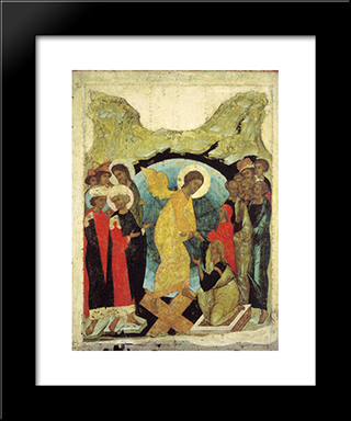 Harrowing Of Hell:  Modern Black Framed Art Print by Andrei Rublev
