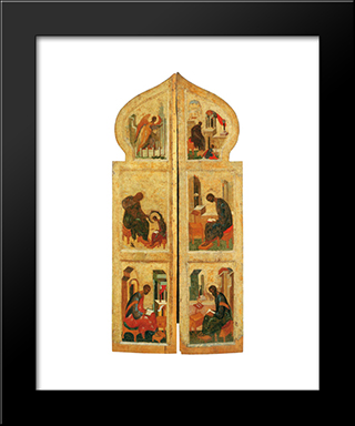 Holy Gates:  Modern Black Framed Art Print by Andrei Rublev
