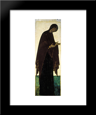 Mother Of God:  Modern Black Framed Art Print by Andrei Rublev