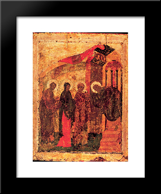 Presentation Of Jesus At The Temple:  Modern Black Framed Art Print by Andrei Rublev