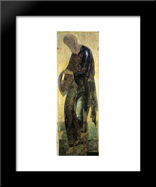 Saint Andrew:  Modern Black Framed Art Print by Andrei Rublev