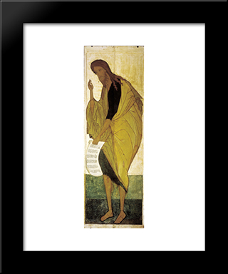 Saint John The Baptist:  Modern Black Framed Art Print by Andrei Rublev