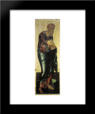 Saint John The Evangelist:  Modern Black Framed Art Print by Andrei Rublev