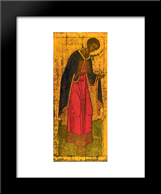 St. Demetrius Of Thessalonica:  Modern Black Framed Art Print by Andrei Rublev
