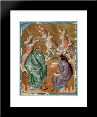 St. John The Evangelist:  Modern Black Framed Art Print by Andrei Rublev