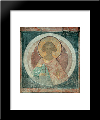 St. Laurus:  Modern Black Framed Art Print by Andrei Rublev
