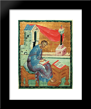 St. Luke The Evangelist:  Modern Black Framed Art Print by Andrei Rublev