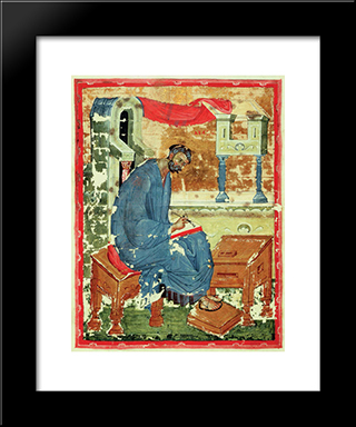 St. Marc The Evangelist:  Modern Black Framed Art Print by Andrei Rublev